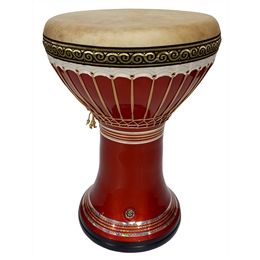 DARBUKA DOHOULLA CLAY - Techno Orange Premium (AFINADOR TÉRMICO + SOFT CASE)